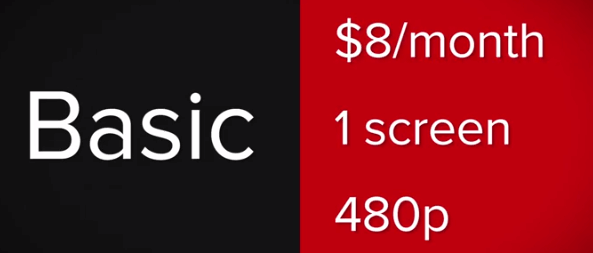 netflix monthly cost
