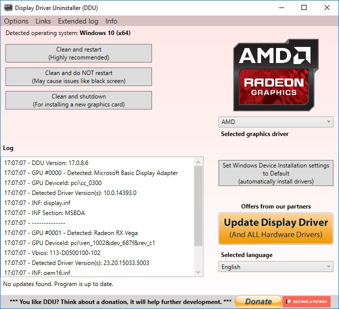 display driver uninstall amd