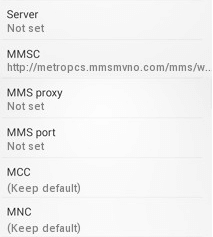 metropcs apn settings note 5