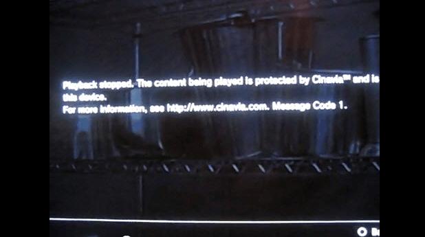 cinavia message code 1