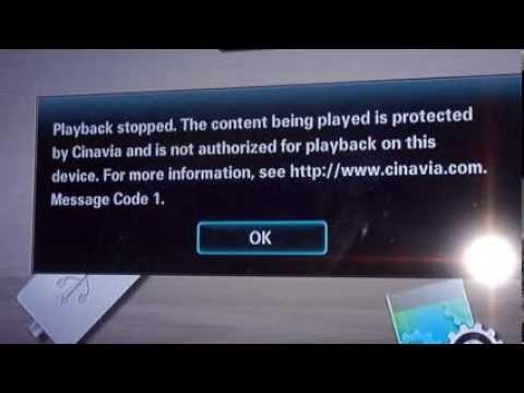 cinavia message code 3