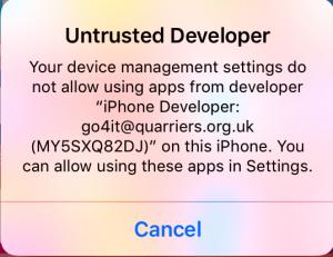 untrusted developer