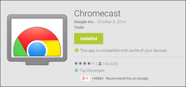 chromecast app for android