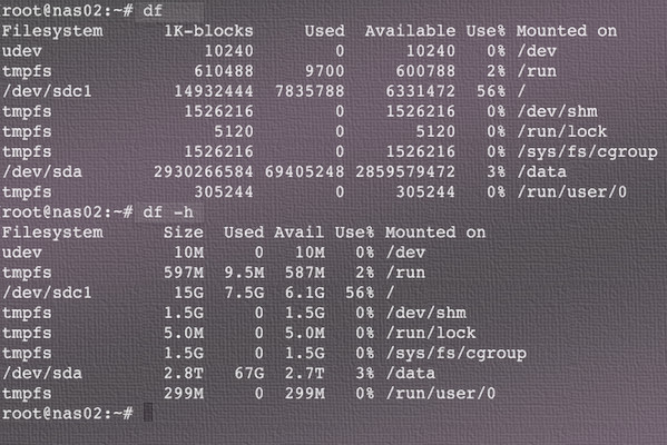 disk usage linux