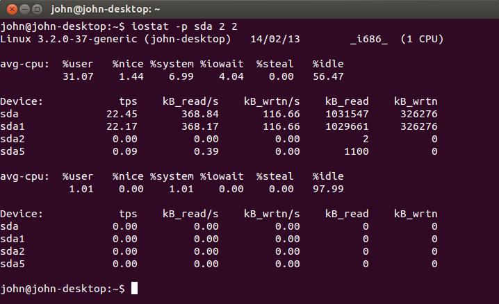 iostat linux