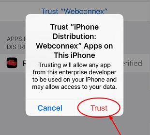 trust app on iphone