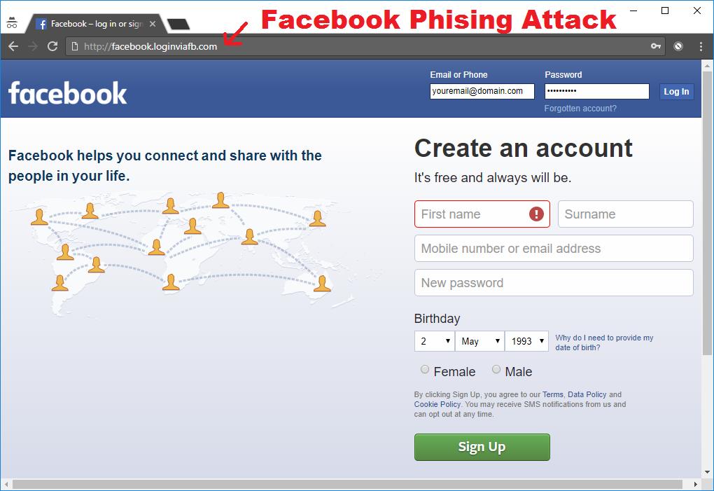 facebook phising