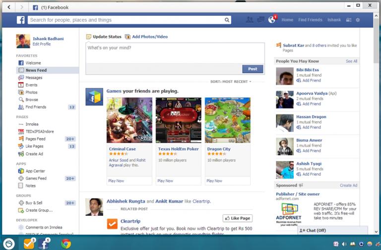facebook for desktop
