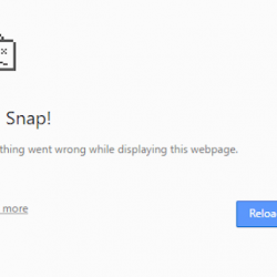 """How to fix """"Aw, Snap!"""" error in the Chrome Browser?"""