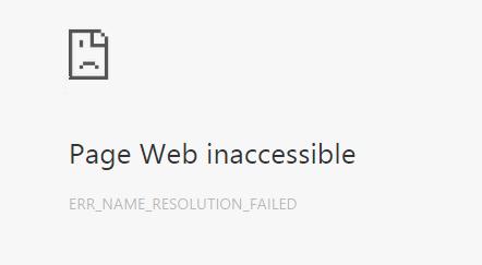 err_name_resolution_failed