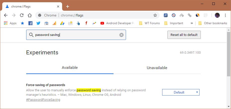 Automatic Password Saving