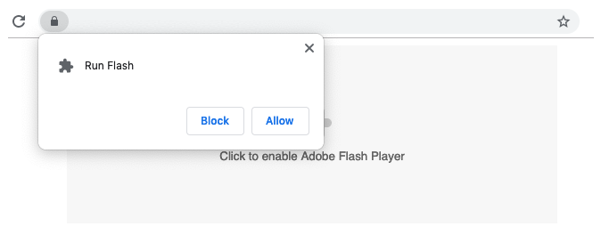 allow enable flash