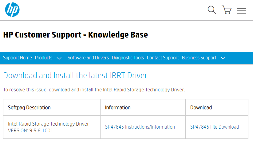 download irrt driver