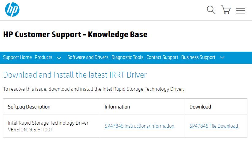 download irrt driver
