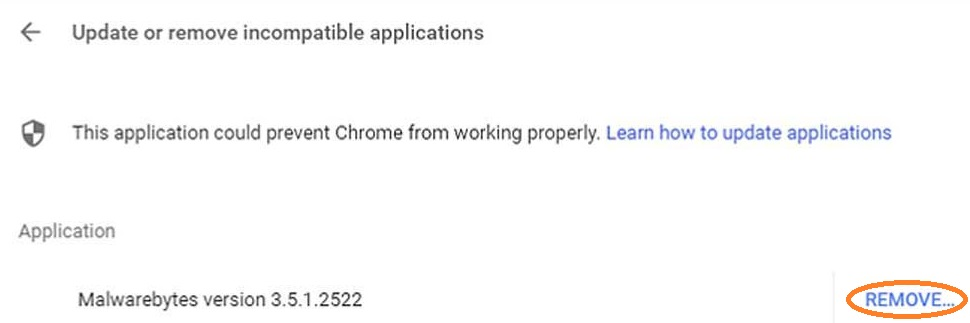 Incompatible Application and programs