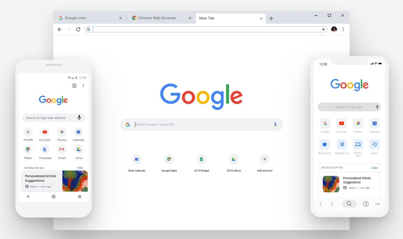 Transfer photos from chrome to phone