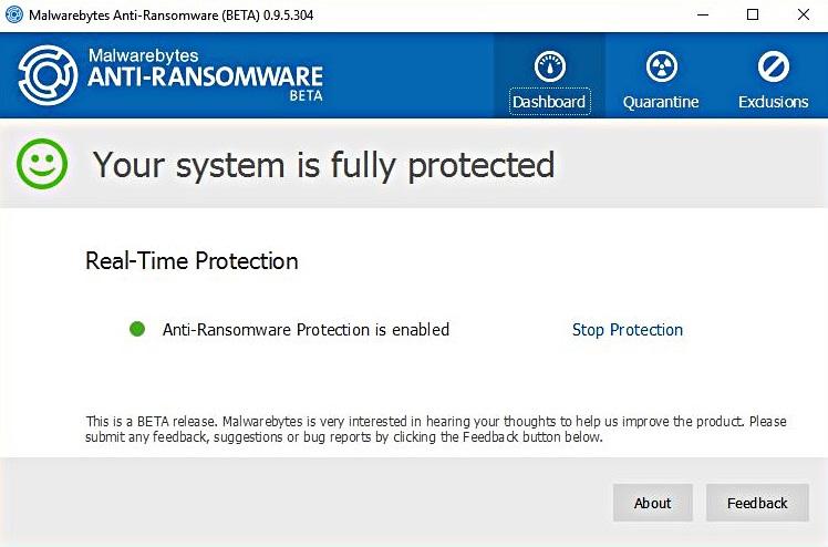 malwarebytes real time protection won't turn on
