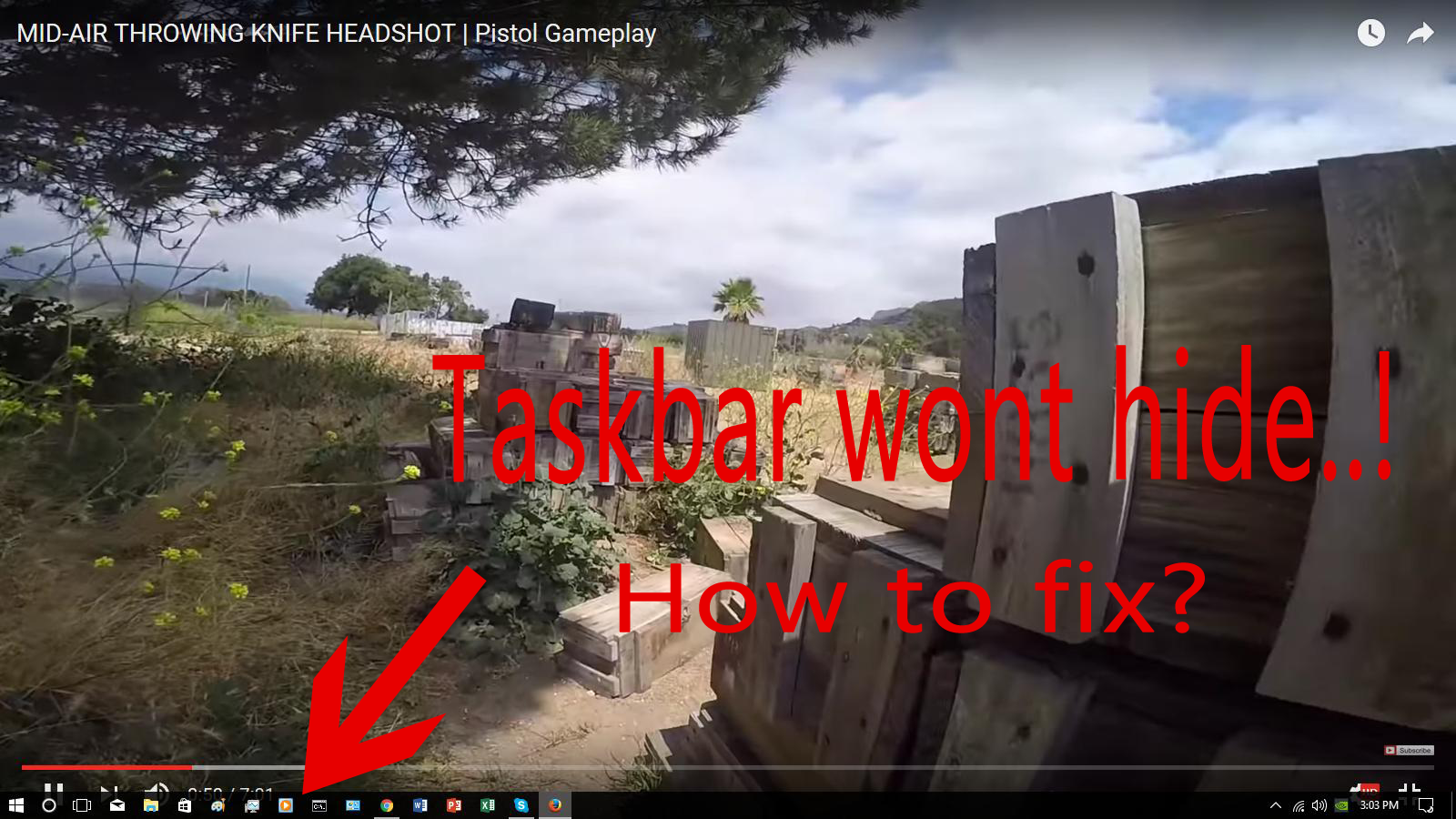 taskbar wont hide