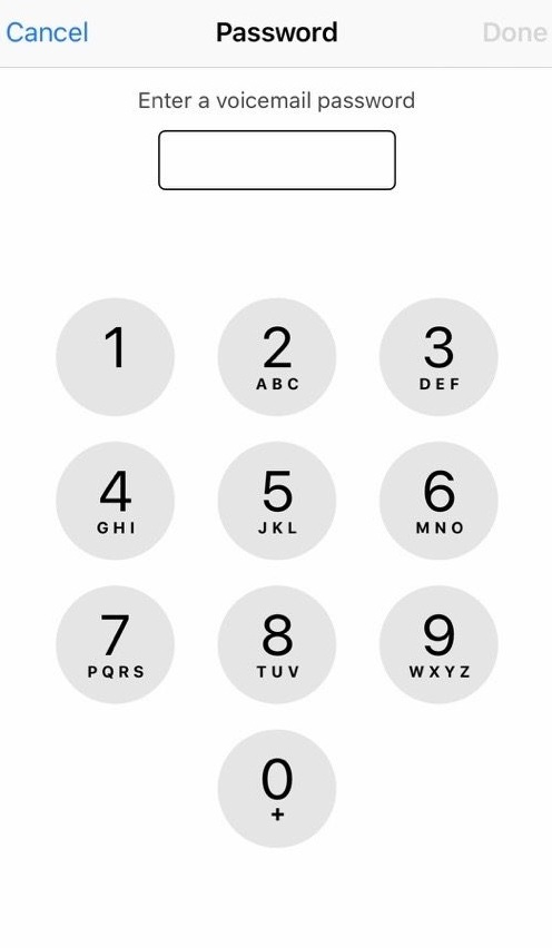 voicemail passcode