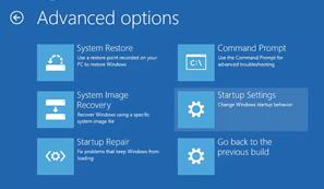 Startup settings