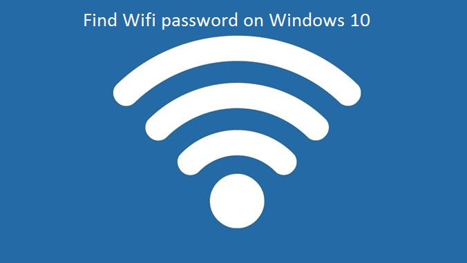 wind wifi password on windows 10