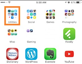 Nine Apps in one folder