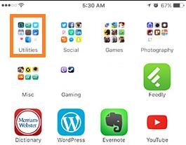 Nine Apps in one folder