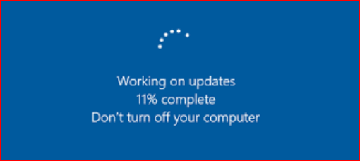 Windows 10 update stuck