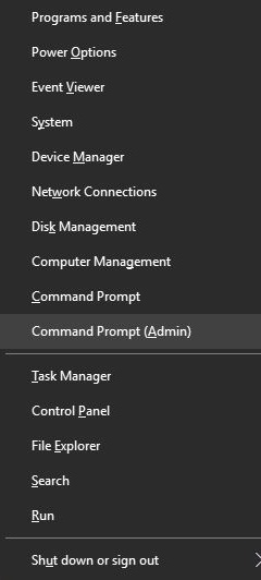 Tap on Command Prompt