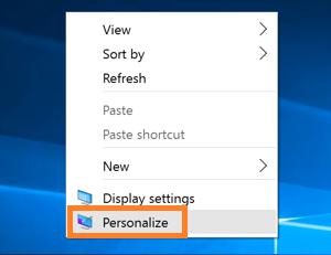 Tap on Personalize