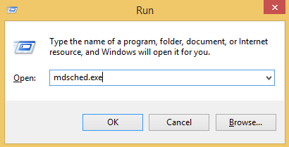 memory diagnostic tool mdsched.exe run