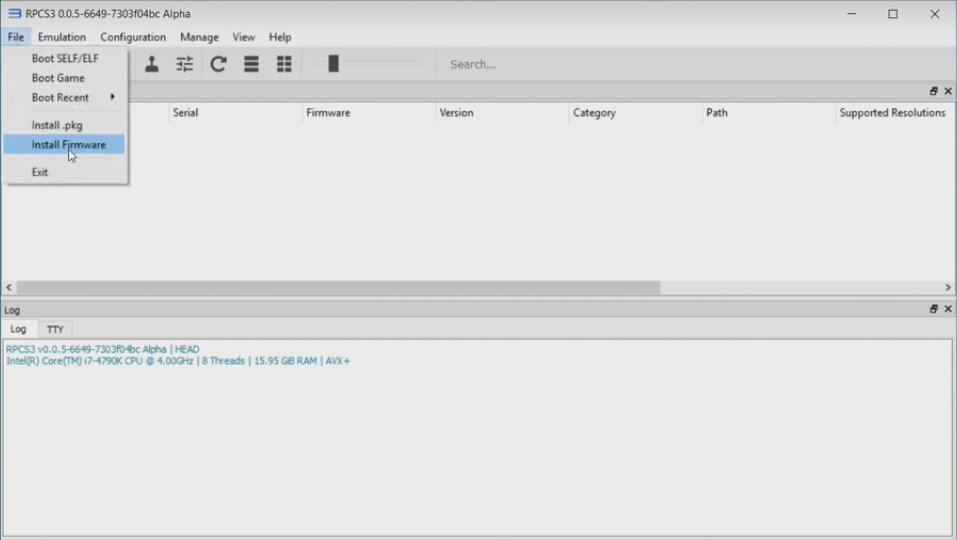 install rpcs3 ps3 firmware