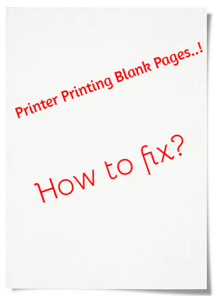printer printing blank pages