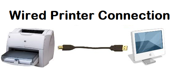 wired printer connection
