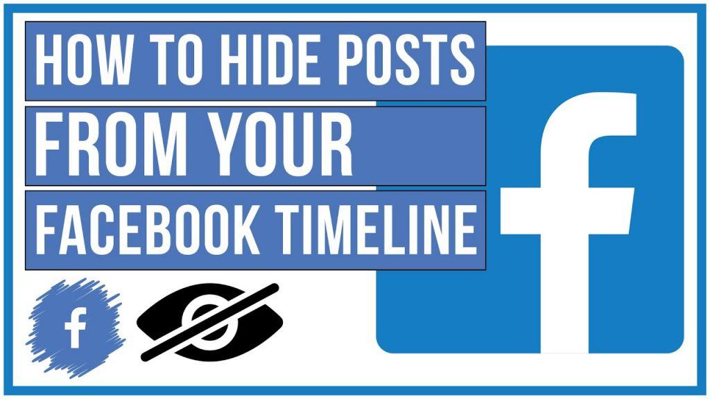 hide delete facebook post