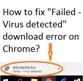 Failed virus detected