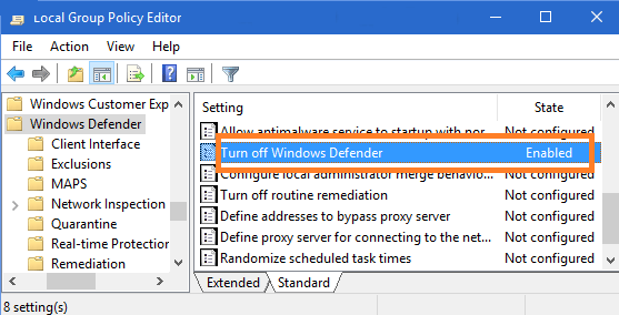 failed virus detected windows 10
