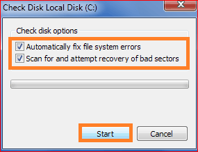 scan disk for bad pool header problems