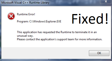 Fix Microsoft Visual C++ Runtime Library Error