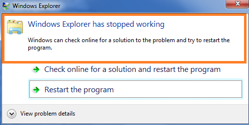 Windows explorer keeps crashing