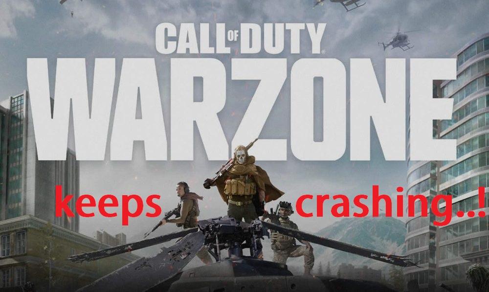 modern warfare warzone crashing