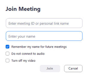 change zoom name before meeting