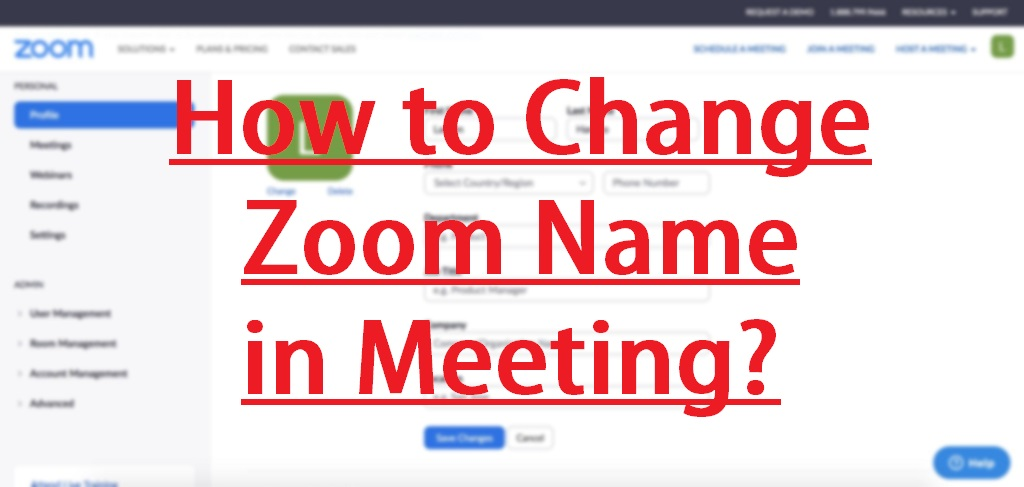 how to change zoom name
