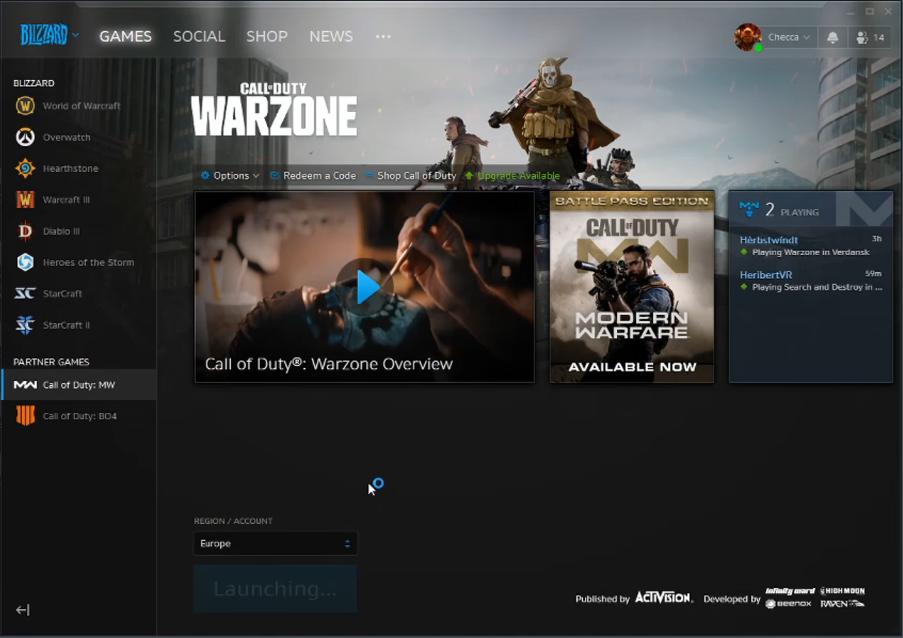 play warzone modern warfare