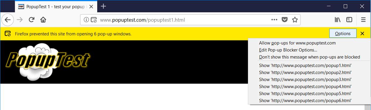 firefox pop-up blocked