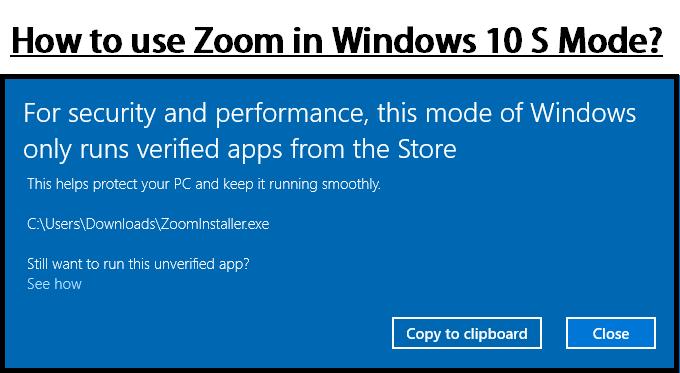 zoom s mode windows 10