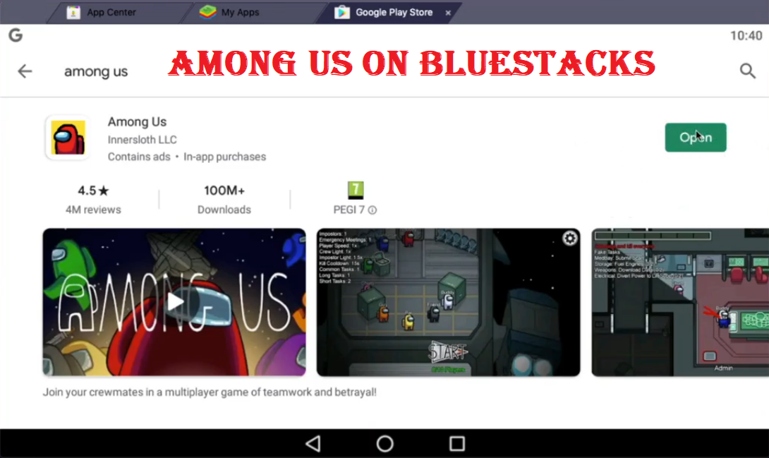 among us bluestacks