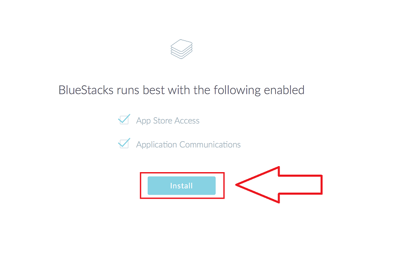 bluestacks app store access and communication