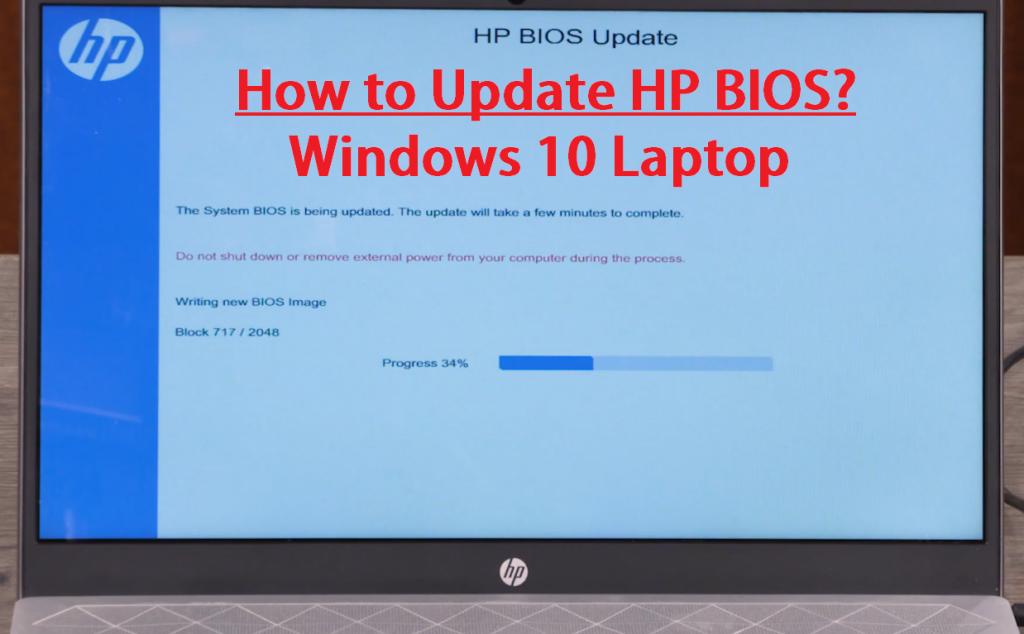 hp bios update windows 10 laptop