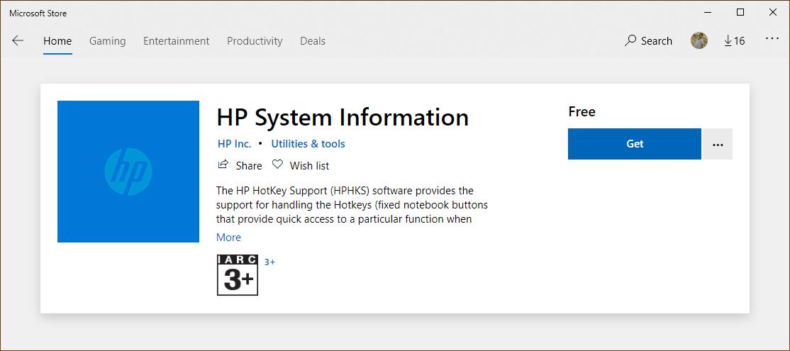 hp system information